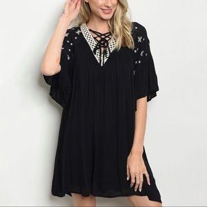 Dresses & Skirts - Kayla Embroidered Boho Tunic Dress
